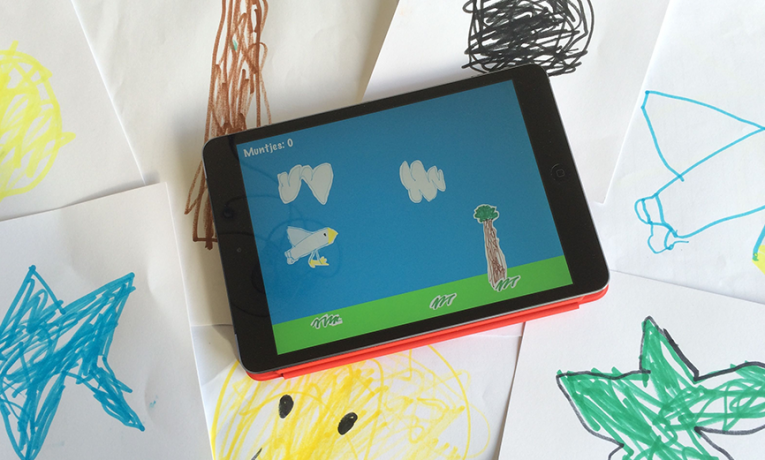 I made a game with my 5 year old son